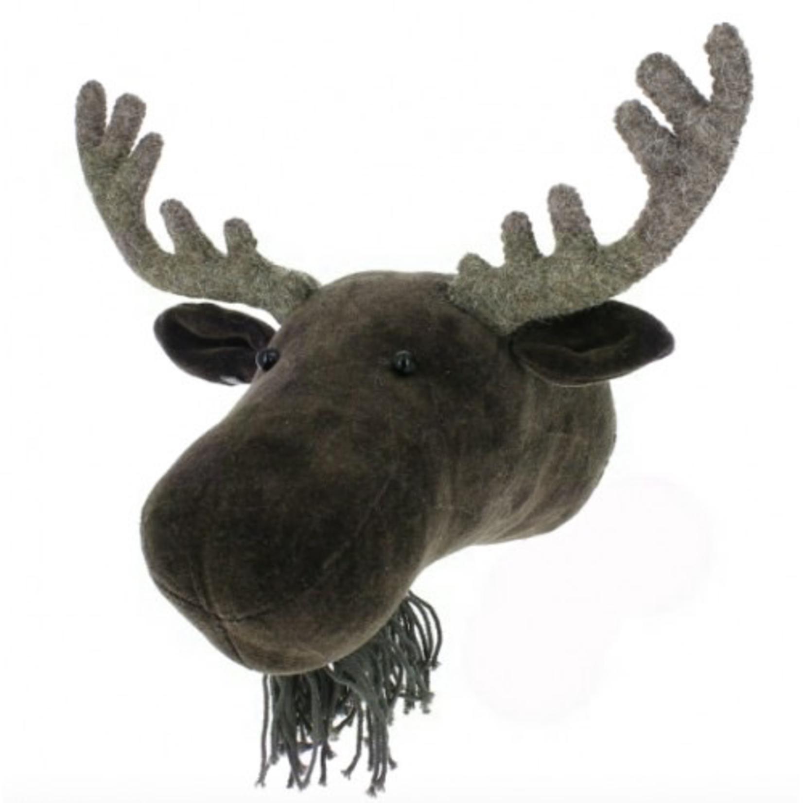 Fiona Walker Fiona Walker Mini Velvet Moose with felt Antlers Head