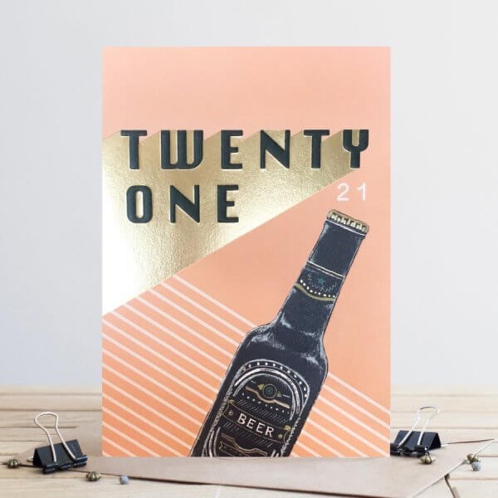 Louise Tiler Age 21 Beer Card