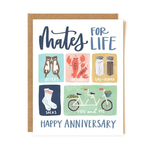 1CANOE2 Mates for Life Anniversary Card