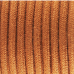 CCIT Per Metre - Round Electric 3 core Cable covered with Cotton solid color fabric Deer - a warm Orangy Brown flex
