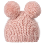 Maileg Maileg Best Friends, Knitted hat with 2 Pom Poms- Heather