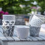 Grand Illusions Old Style Dutch Pots Black Asst 6 Designs 14x14x12cm
