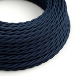 CCIT Per Metre - Rayon Twisted Fabric Lighting Flex Electric Cable Dark Blue