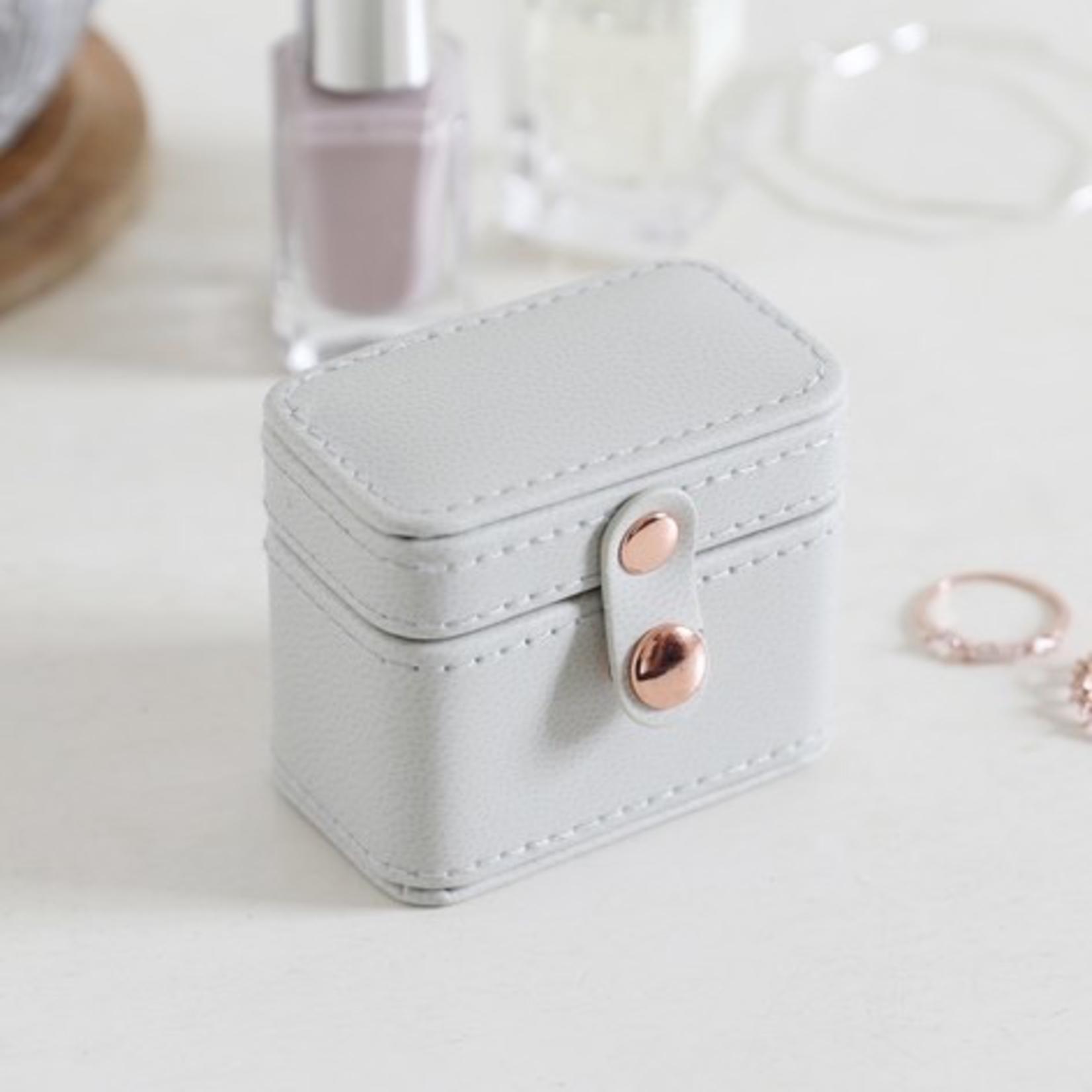 Lisa Angel Grey Mini Travel Ring / earring Box Jewellery box