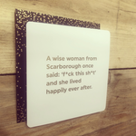 Brainbox Candy A Wise Woman from Scarborough Card