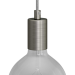 CCIT Brushed Titanium Cylindrical E27 metal lamp holder
