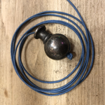 "IRON RANGE Light Pull Ball Knob 'EASTBURN' style Ant Iron 32mm / 1.25"" (with cord 1.5m)"