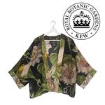 ONE HUNDRED STARS KEW Kimono Passion Flower Black