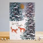 Louise Tiler Foxy Couple Christmas Card
