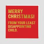 Redback Cards Child Christmas Card