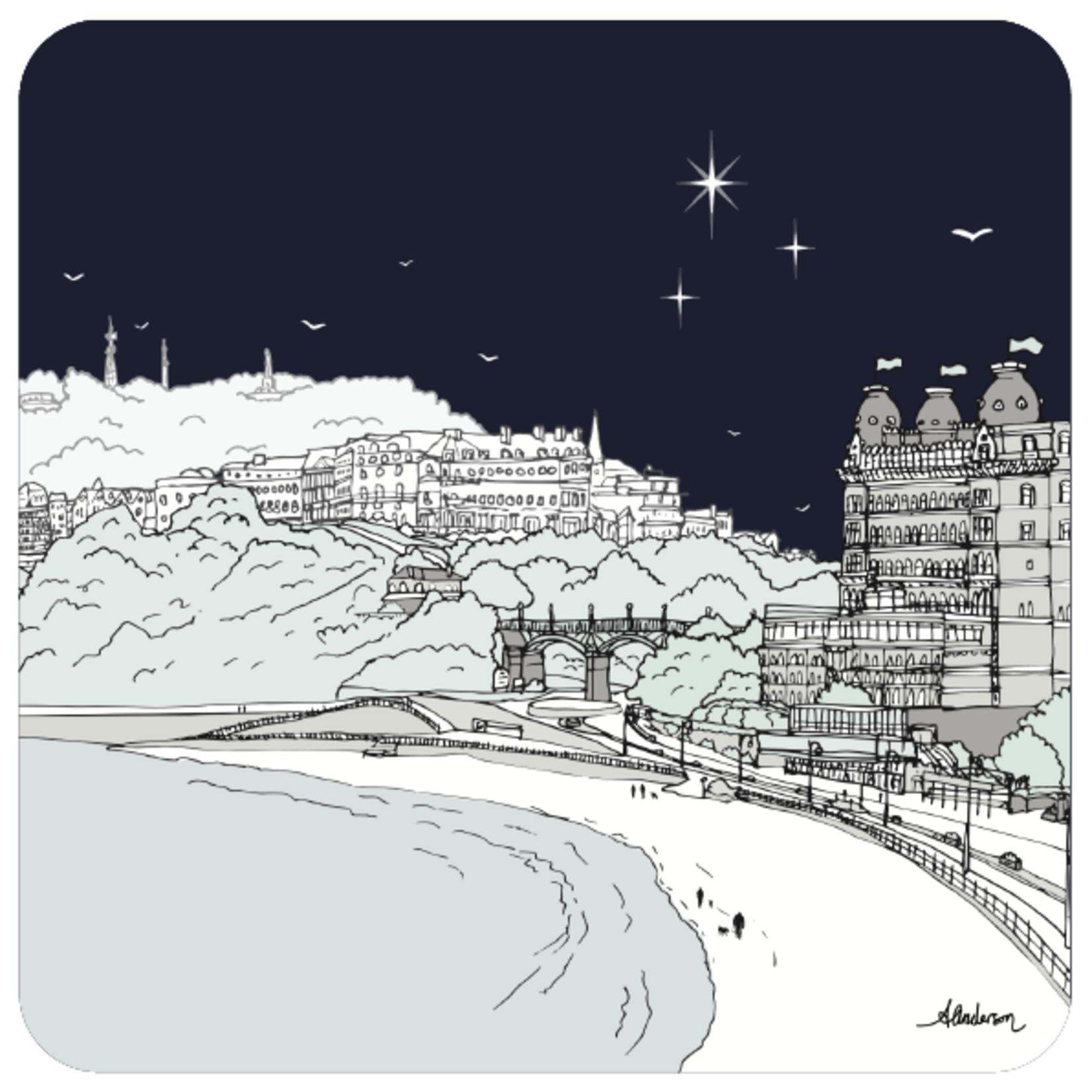 Homebird Coaster Midnight Olivers Mount - Alex Anderson Scarborough Single Tableware