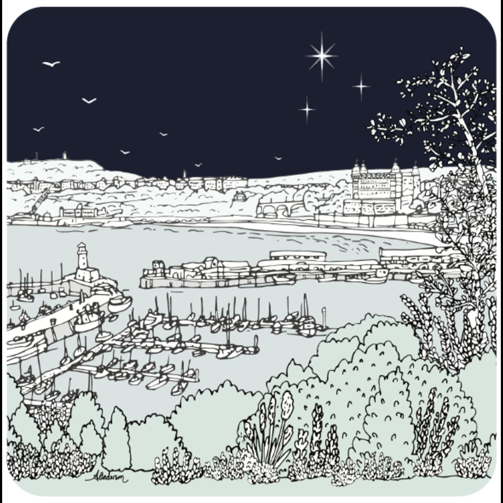 Homebird Coaster Midnight Harbour - Alex Anderson Scarborough Single Tableware