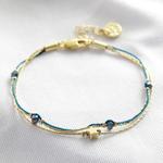 Lisa Angel Blue and gold star bracelet