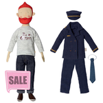 Maileg Maileg Size 2 Ginger Dad with Pilot outfit