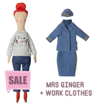 Maileg Maileg Size 2 Ginger Mum with Stewardess Outfit