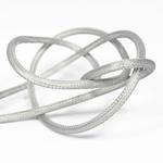 Nud Per Metre NUD Textile Cable/Flex 2 core Silver Fishnet