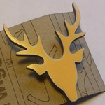 Twiggd Stag Brooch - yellow