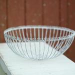 Nkuku Ishara white distressed bowl