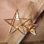 Nk ANTIQUE BRASS GLASS STAR (SMALL) 20 X 20 X 5.5CM