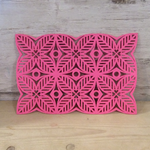 Alljoy 2 x Felt square flower placemats in Pink