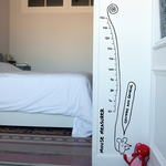 Chispum Growth Chart: Growing & Growing Wall sticker 30x120cm