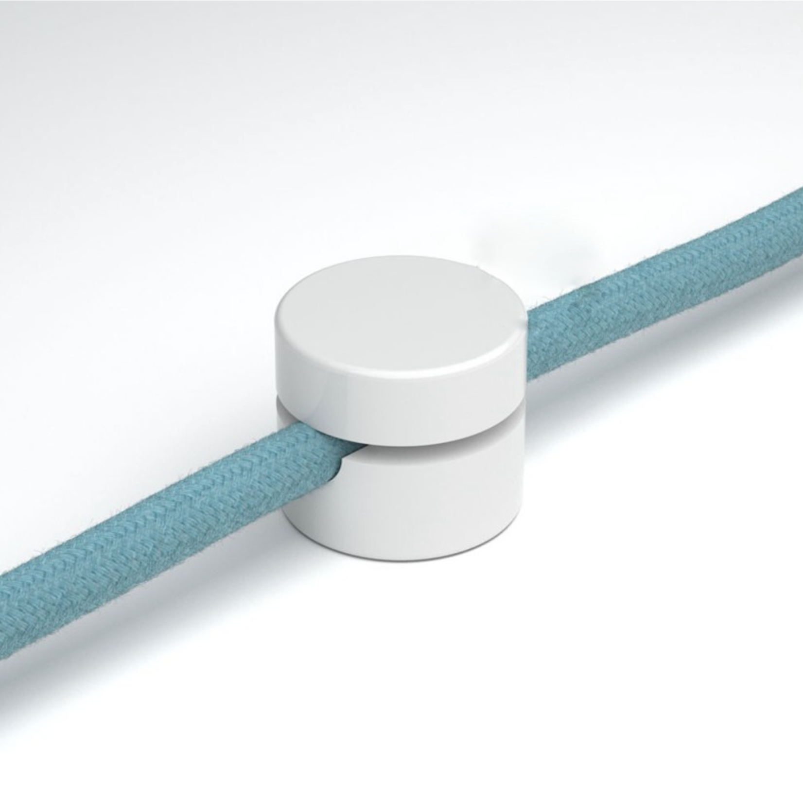 CCIT Cable Director - Wall Staple Universal fairlead for fabric cables, Made of white Plastic