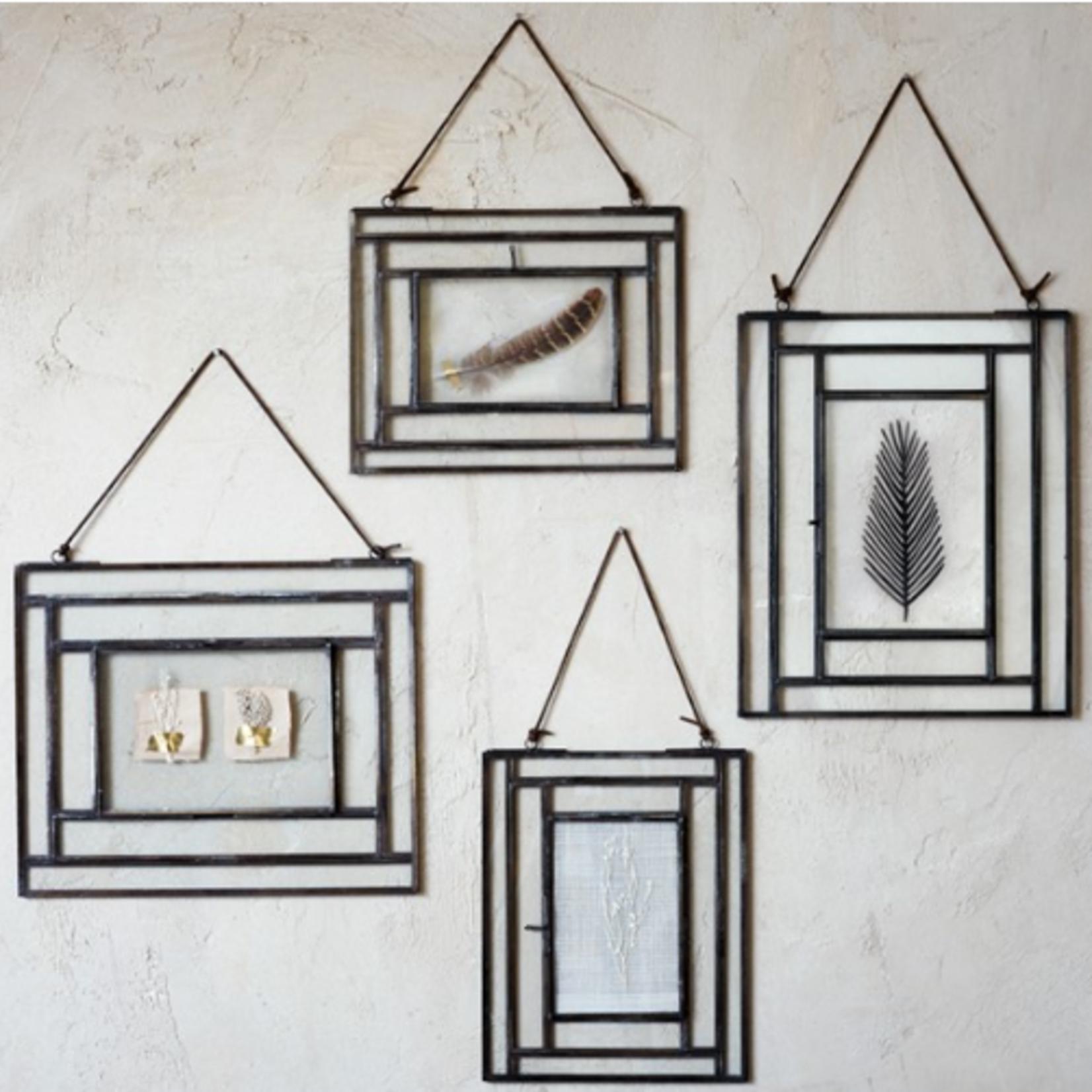 "Nk Dagana Wall Hung Glass Frame - Antique Black - Portrait 5 x 7"""