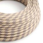 CCIT Per Metre - Round Electric 3 Core Vertigo Cable covered by Cotton and Linen With Copper Thread Flex