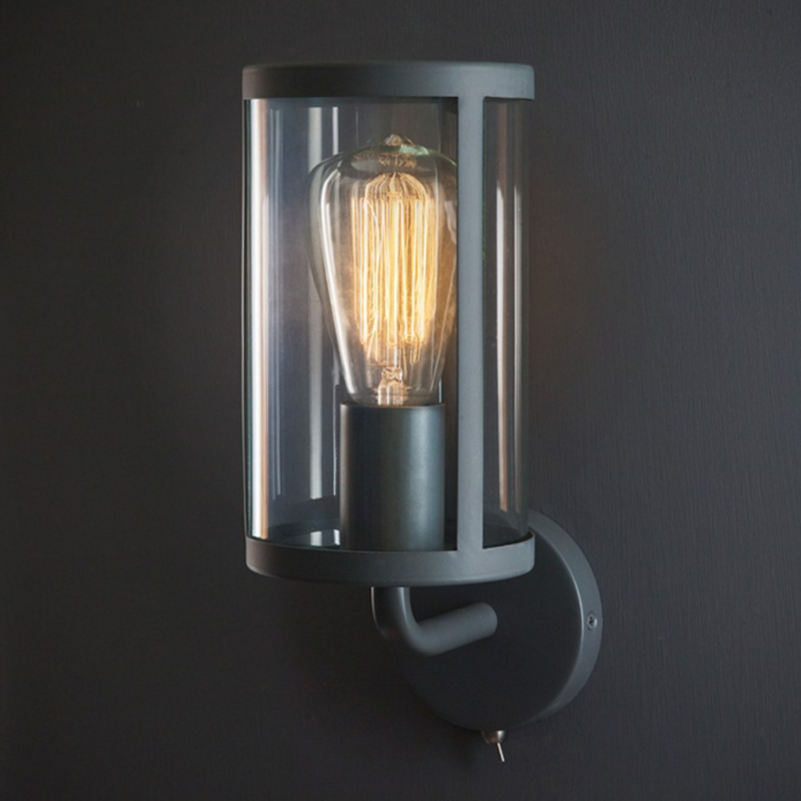 GT Cadogan Wall Light Charcoal