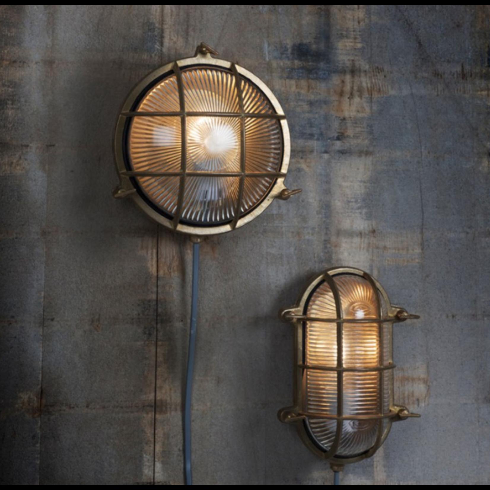 GT Devonport Round Bulk Head Light - Brass - Indoor and Outdoor