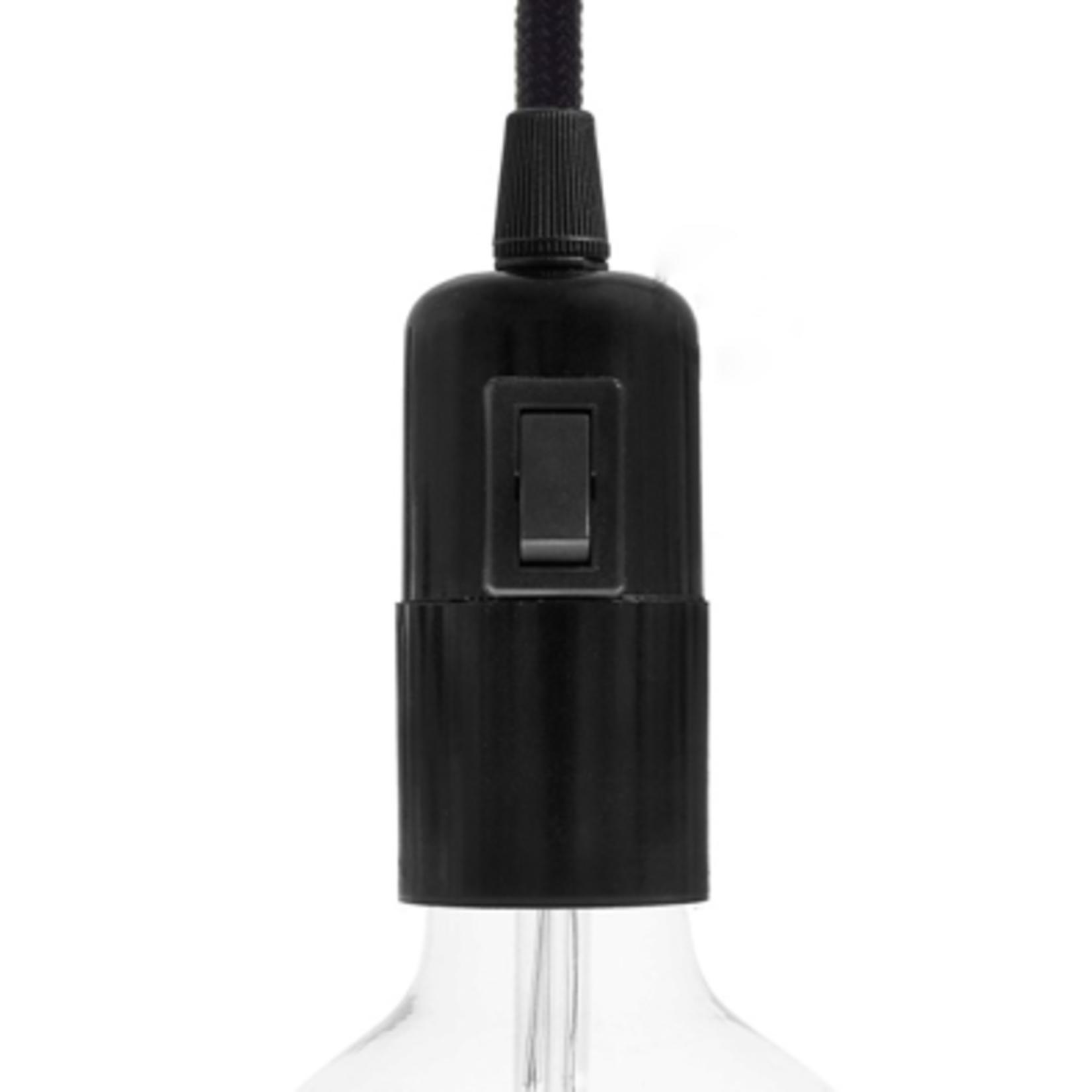 CCIT E27 lamp holder with switch in black bakelite