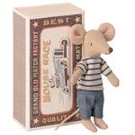 Maileg Maileg Big brother mouse in matchbox - Stripe Jumper