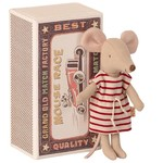 Maileg Maileg Big sister mouse, in matchbox - Stripe Dress