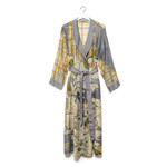 ONE HUNDRED STARS New York Map Dressing Gown in grey