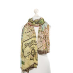 ONE HUNDRED STARS Budapest Map Scarf