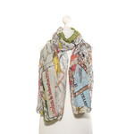 ONE HUNDRED STARS London Streets Map Print Scarf