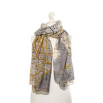 ONE HUNDRED STARS New York City Map Print Scarf in Grey