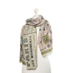 ONE HUNDRED STARS Paris Streets Map with Monuments Printed Scarf - Pink