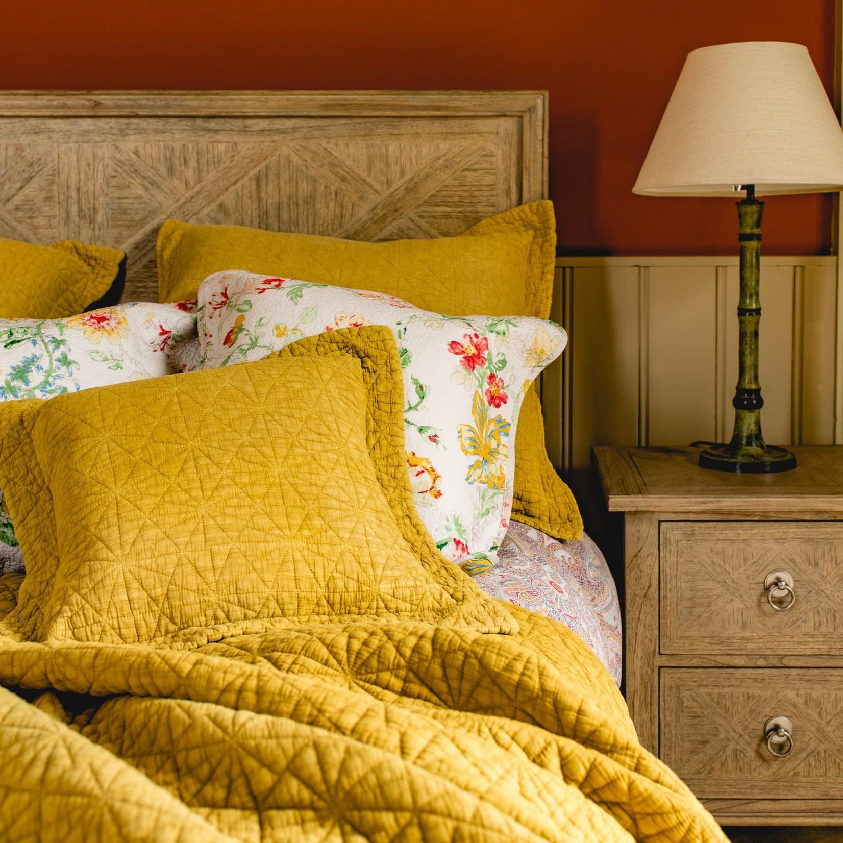 Forever England Forever England Stonewash Cotton Ochre Cushion 43 x 43cm Pillow cover