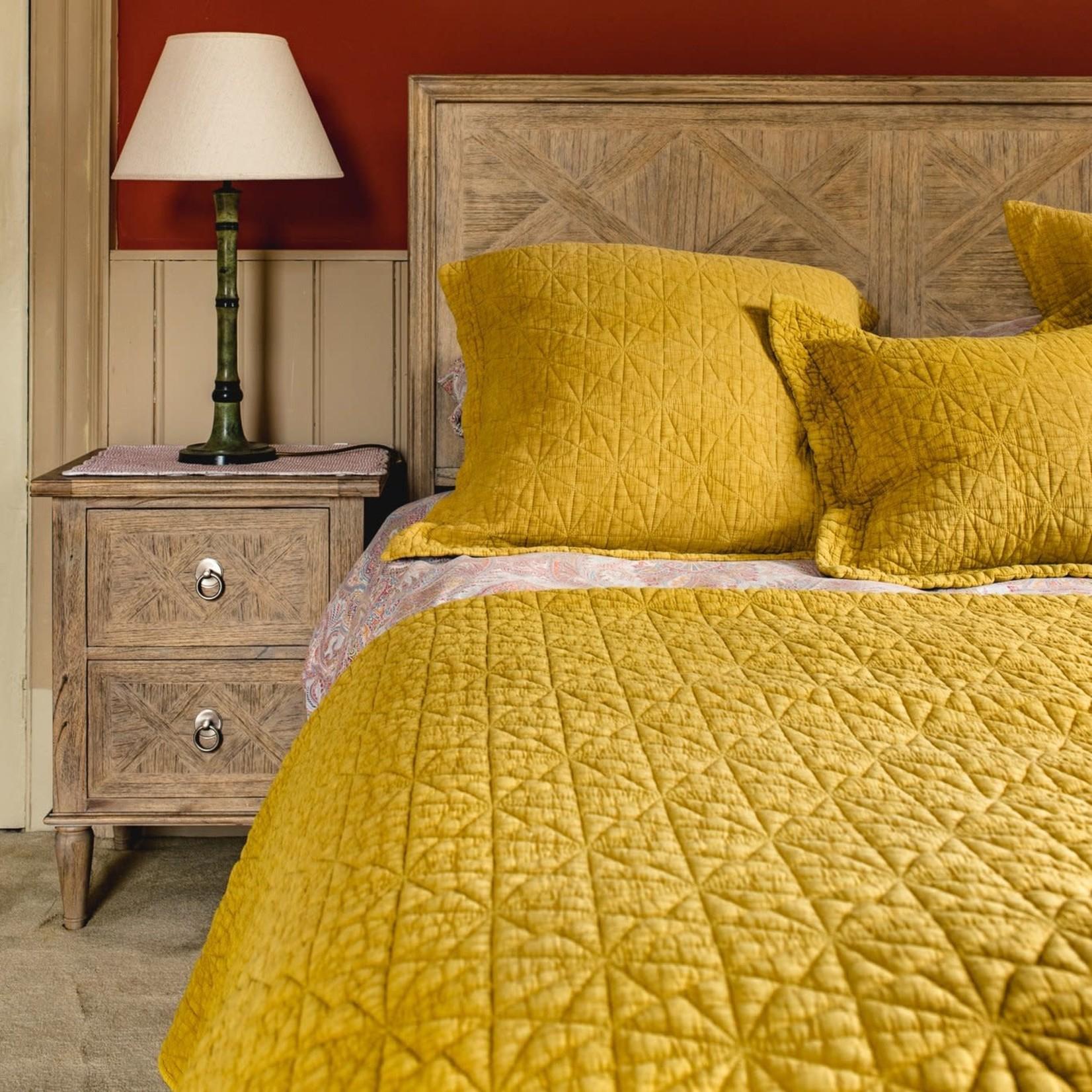 Forever England Forever England Stonewash Cotton Ochre Single Bedspread (190 x 260cm)