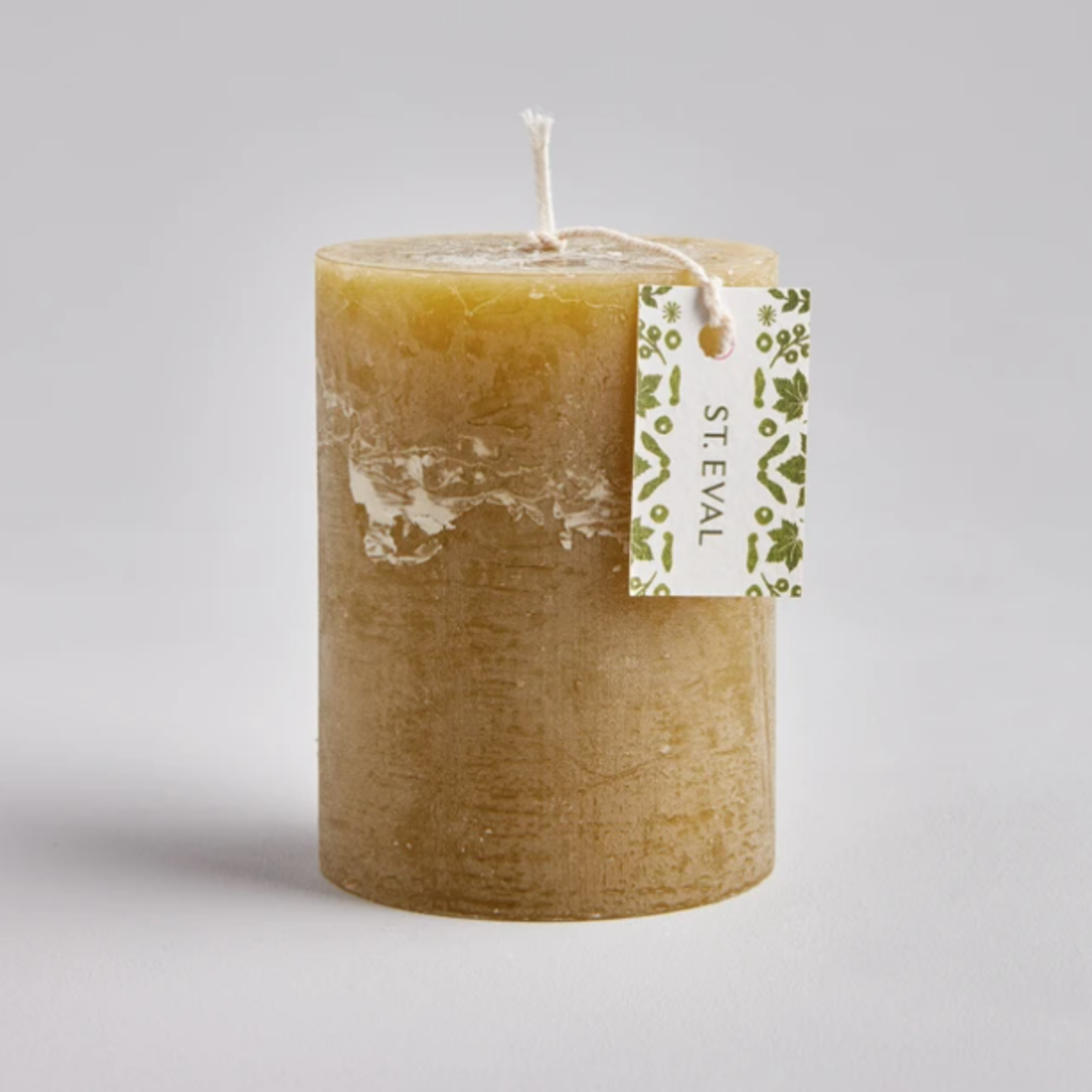 """St. Eval Moss Folk 3""""x4"""" Scented Pillar Candle"""