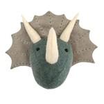 Fiona Walker Fiona Walker Mini Triceratops Head (Blue/Grey)