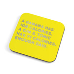 Redback Cards Calories Coaster