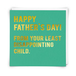 Redback Cards Father's Day Least Disappointing Dad Card