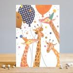 Louise Tiler Giraffe Party Card