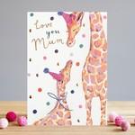 Louise Tiler Love You Mum Giraffe Card