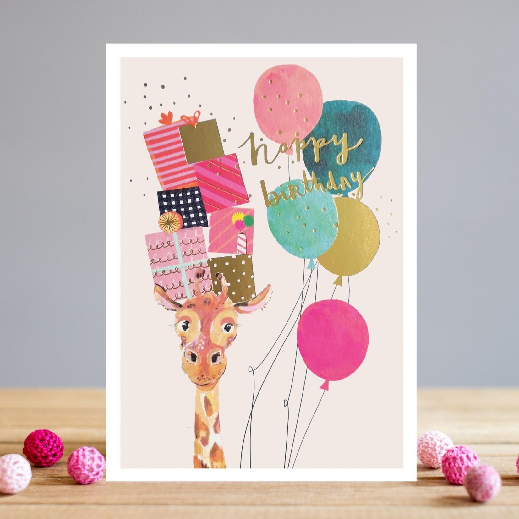Louise Tiler Happy Birthday Giraffe Card