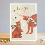 Louise Tiler Love You Daddy Bear Card
