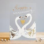 Louise Tiler Anniversary Swans Card