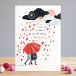 Louise Tiler Shower of Hearts Card